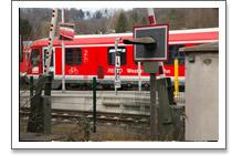 Signalgarten am Bahnhof in Amorbach