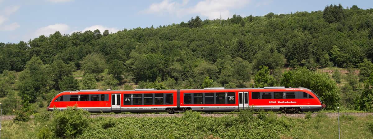 Westfrankenbahn unterwegs