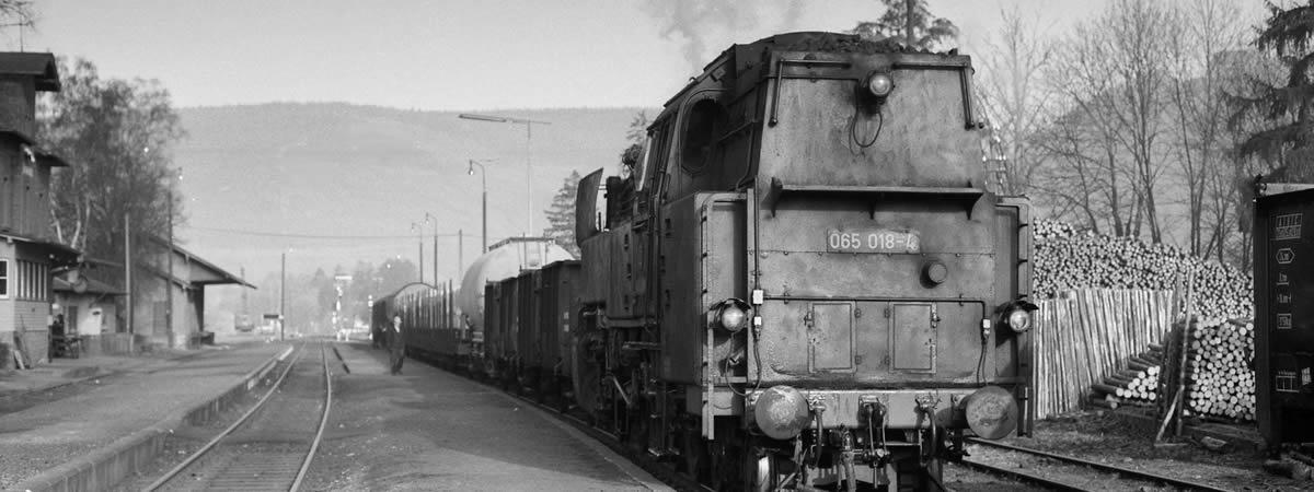 Historische Ansicht - Bahnhof Amorbach